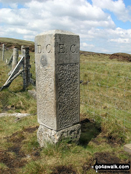 Boundary Stone on Burnhope Seat