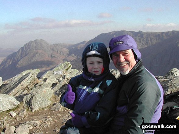 Me and grandson Kieran on Y Garn (Glyders)
