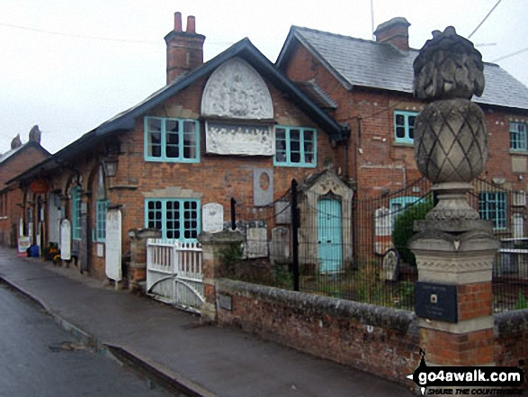 Great Bedwyn Post Office. Walk route map wi102 Wilton Windmill from Great Bedwyn photo
