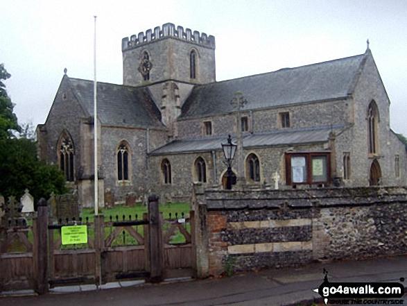 Great Bedwyn Church. Walk route map wi102 Wilton Windmill from Great Bedwyn photo
