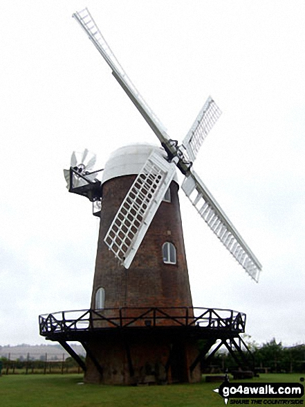 Wilton Windmill. Walk route map wi102 Wilton Windmill from Great Bedwyn photo
