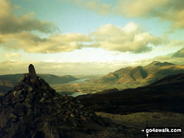 Crummock Water and Skiddaw from High Seat (Ashness Fell)