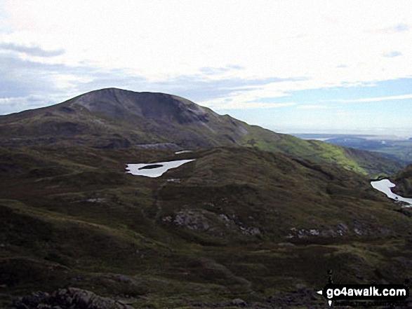 Llynnau Diffwys with Moelwyn Mawr beyond from near Llyn Yr Adar