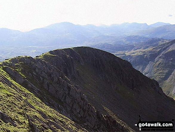 The north-west ridge of Molewyn Mawr from the summit of Moelwyn Mawr