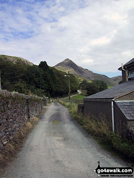 Cnicht - aka The Welsh Matterhorn - from the lane out of Croesor