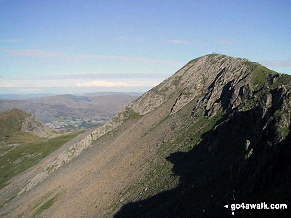 Approching the summit of Craigysgafn