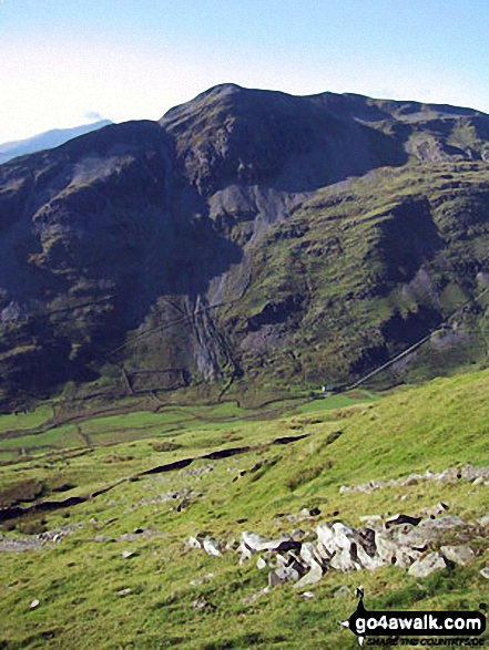 Cnicht (centre) and Cnicht (North Top) (right) from the lower slopes of Moelwyn Bach