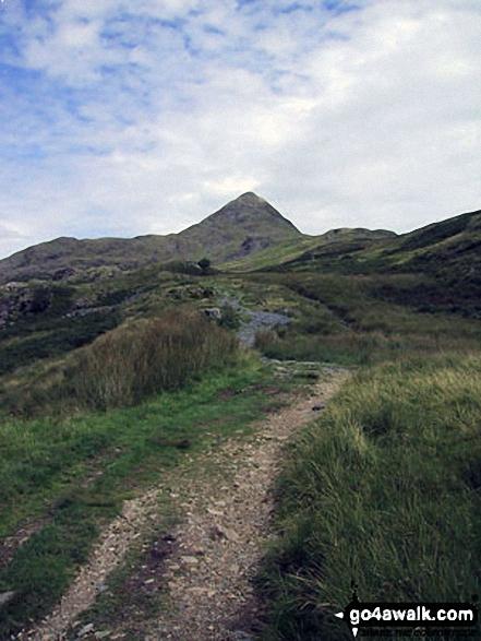 Cnicht - aka The Welsh Matterhorn - from the track across Croesor Bach