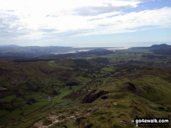 Porthmadoc and Tremadoc Bay/Bae Tremadog from the summit of Cnicht - the Welsh Matterhorn