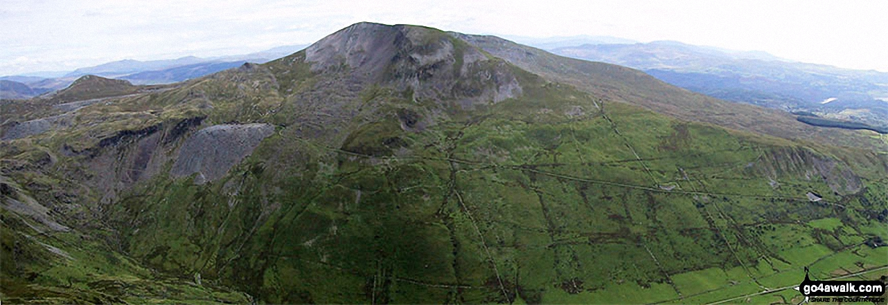 Moel-yr-hydd (left) and Moelwyn Mawr (centre) from the summit of Cnicht - the Welsh Matterhorn