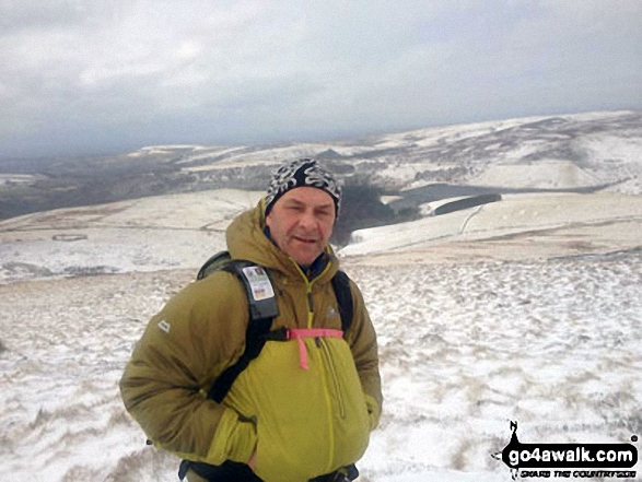 A snowy mothers day on Kinder Scout. Walk route map d296 Jacob's Ladder and Kinder Scout from Edale photo