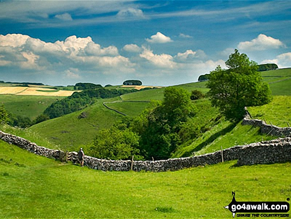 Milldale. Walk route map s109 Castern Hall, Wetton, Alstonefield and Milldale from Ilam photo
