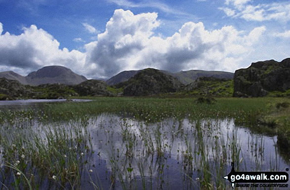 Walk c287 The High Stile Ridge and Hay Stacks from Buttermere - Innominate Tarn on Hay Stacks