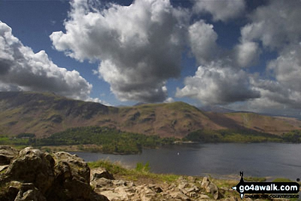 Cat Bells (Catbells) and Derwent Water from Surprise View nr Ashness Bridge. Walk route map c201 Ashness Bridge and Walla Crag from Keswick photo