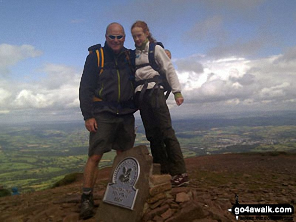 Me and my daughter on Pen y Fan It was beautiful up there!! :o)
