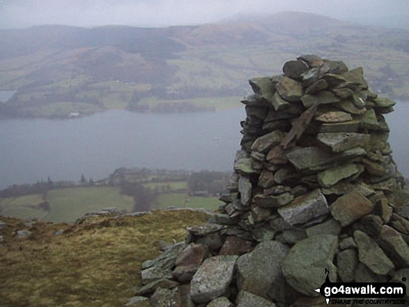 Walk c283 Arthur's Pike and Loadpot Hill from Howtown - Ullswater from Whinney Crag near Arthur's Pike