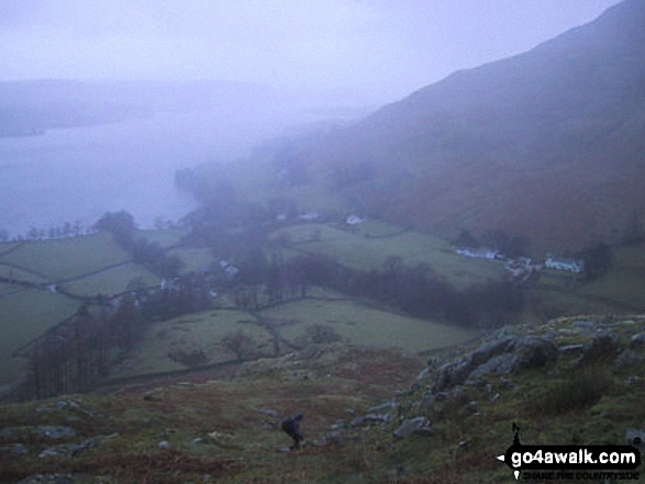 Howtown and Ullswater from Steel Knotts (Pikeawassa)