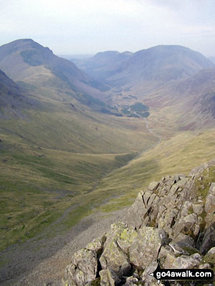 Ennerdale with Pillar (left) and High Stile (right) from Green Gable