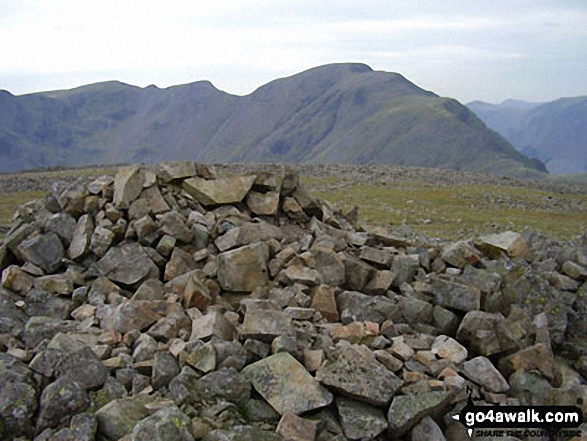 Pillar from Kirk Fell. Walk route map c141 Great Gable and Pillar from Wasdale Head, Wast Water photo