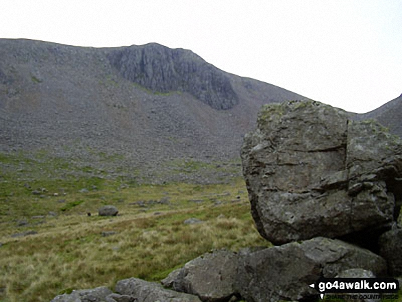 Greengable Crag from Moses' Trod. Walk route map c442 Great Gable and Green Gable from Honister Hause photo