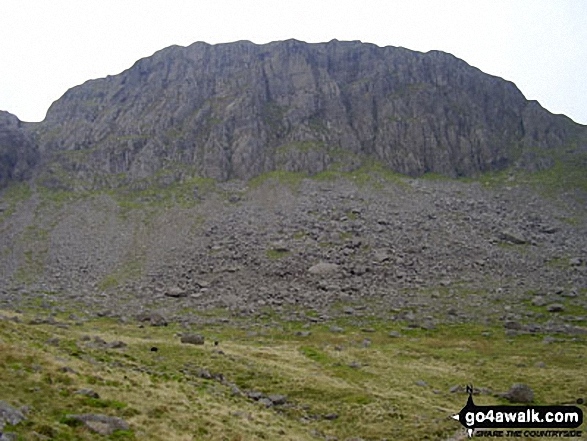 Great Gable from Moses' Trod. Walk route map c141 Great Gable and Pillar from Wasdale Head, Wast Water photo