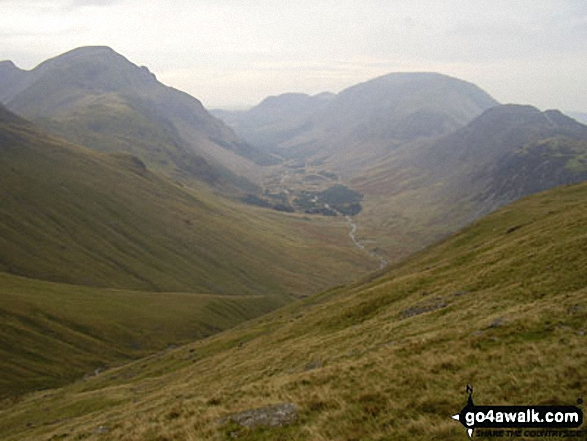 Ennerdale from Moses' Trod. Walk route map c141 Great Gable and Pillar from Wasdale Head, Wast Water photo