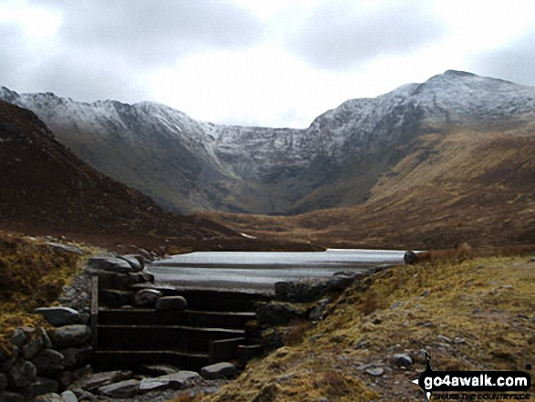 The Carrauntoohill Horseshoe from Lough Eighter<br> MacGillycuddy�s Reeks<br> County Kerry,