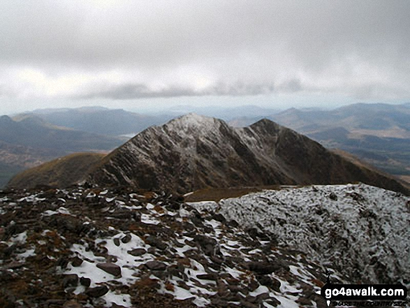 Looking back towards Caher from near the summit of Carrauntoohill<br>