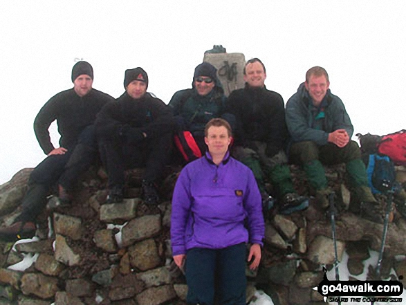 Me and friends on Ben Nevis