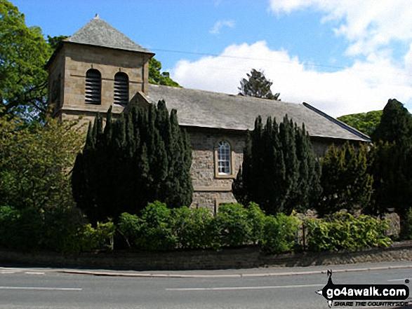 The church in the village of St John's Chapel, Weardale