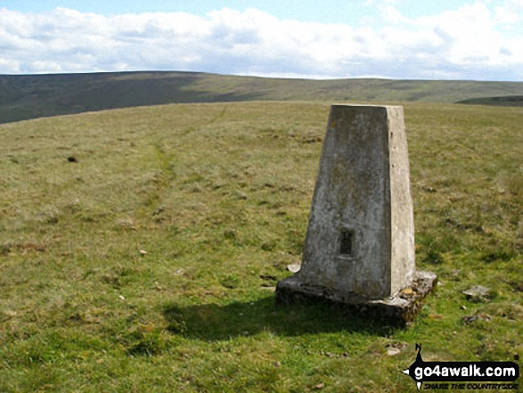 Trig Point on the northern end of the Black Hill (Westernhope Moor) ridge