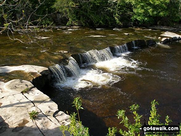 The River Wear in Weardale. Walk route map du129 Chapelfell Top from St John's Chapel photo