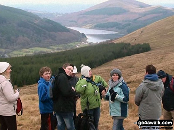 Jerusalem Baptist Church hike on Pant y Creigiau with Talybont Reservoir in the background