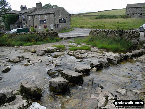 Stepping Stones at The White Lion, Cray. Walk route map ny133 Yockenthwaite from Buckden photo
