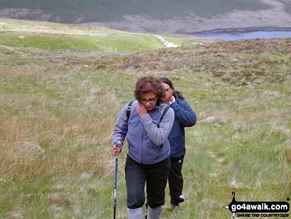 Climbing Plynlimon (Pen Pumlumon Fawr) from Nant-y-moch Reservoir