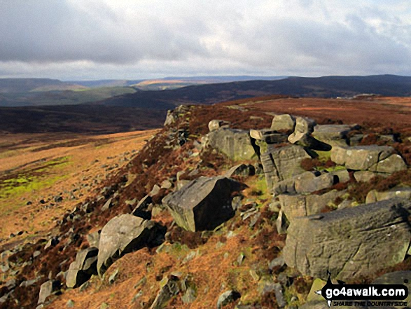 Looking North along Stanage Edge from High Neb (Stanage Edge)