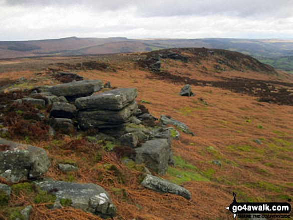 Bamford Edge, Bamford Moor with Stanage Edge (Stanage Edge) in the distance