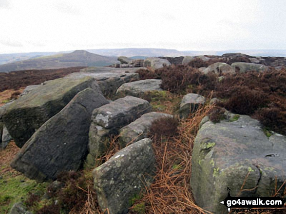 Bamford Edge on Bamford Moor with Lose Hill (Ward's Piece) prominent beyond