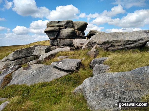 Wind sculptured rocks on Featherbed Moss (Howden Edge)
