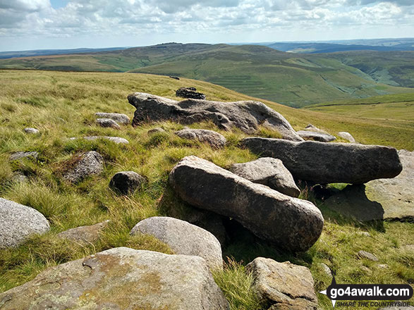 Back Tor (Derwent Edge) and Lost Lad from Featherbed Moss (Howden Edge)