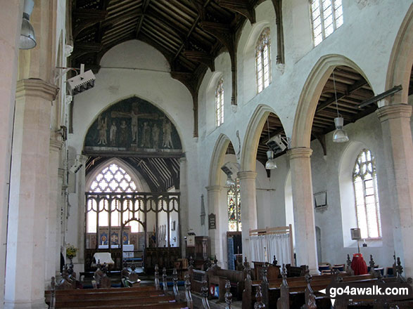 Inside St Catherine's Church, Ludham