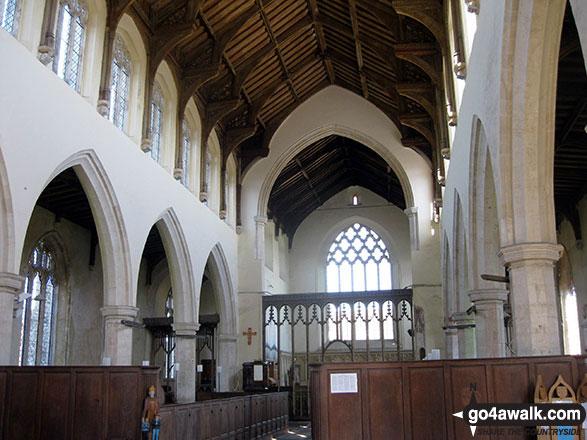 Inside St Mary's Church, Worstead