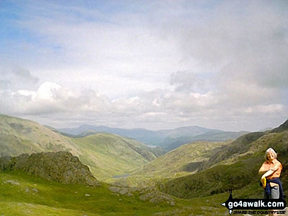 North from the Corridor Route en-route to Scafell Pike. Walk route map c215 Scafell Pike from Seathwaite photo