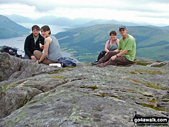 Picnic on top of The Pap of Glencoe