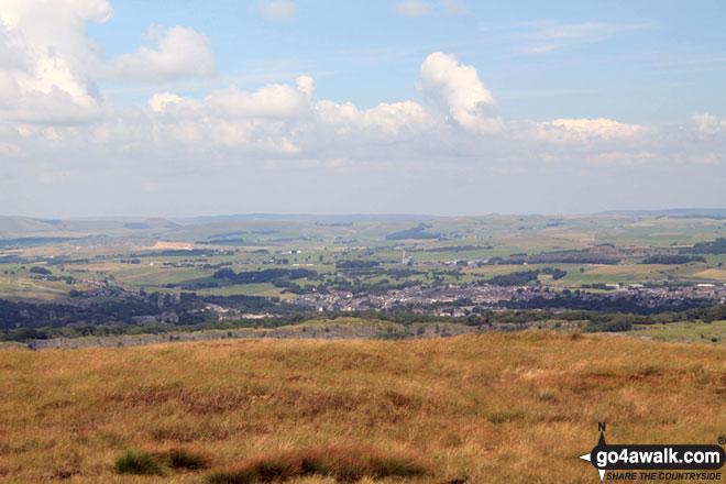 Buxton from Axe Edge (Axe Edge Moor)