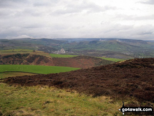 Kinder Scout, Mam Tor and Lose Hill (Ward's Piece) from Burton Bole End (Abney Moor)