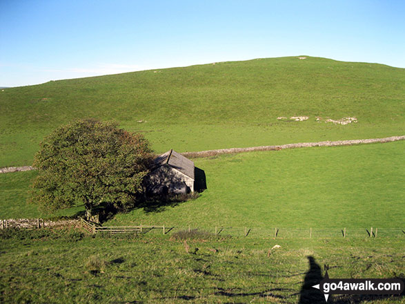 Stone barn from Wetton Hill (South West Top)