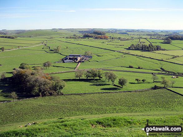 Gateham Grange from the summit of Wetton Hill
