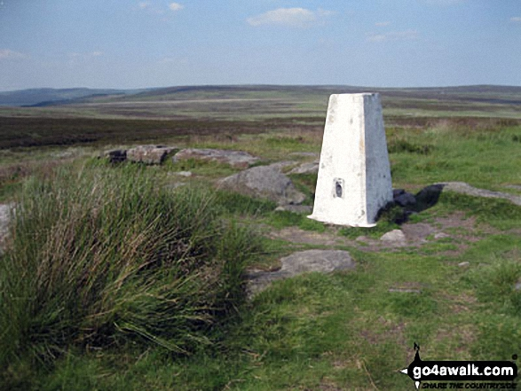 White Edge (Big Moor) (South East Top) summit trig point
