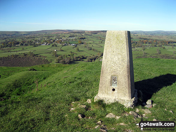 Ecton Hill summit trig point
